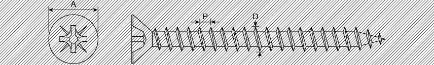 Шурупы из нержавеющей стали для древесно-стружечных панелей, потайная головка PZ