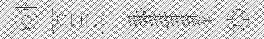 Viti distanziali TSP TX autoperforanti con alette svasanti 2 filetti speciali
