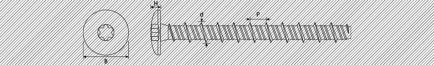 Concrete screws truss head with reinforced neck and special trilow thread
