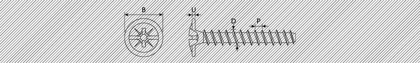 Viti per pannelli truciolari testa mezza tonda ranellata PZ combi s/punta