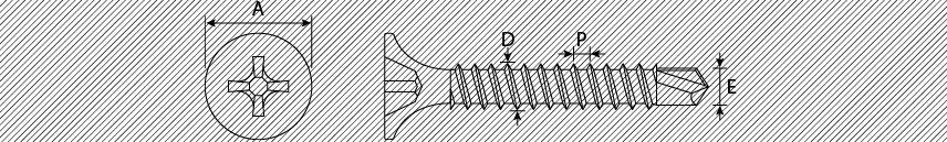Viti per cartongesso testa a trombetta PH autoperforanti