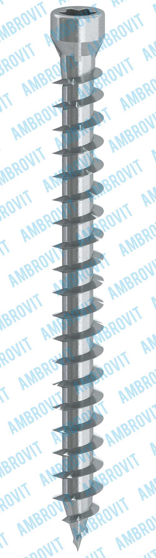 Viti per calcestruzzo testa cilindrica ridotta TX diametro 5 mm