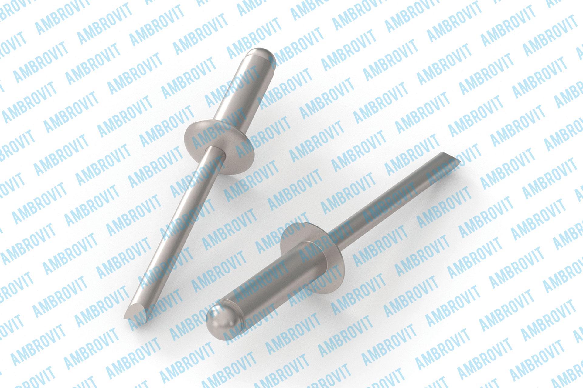 Rivetti tipo aperto a strappo testa tonda acciaio Inox A2/acciaio Inox A2